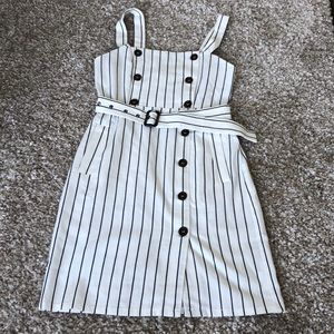 NWT Forever 21 Striped Button Up Midi Dress Sz S